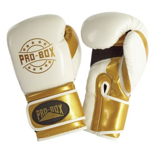 Pro-Box Champ-Spar Boxing Gloves - White/Gold